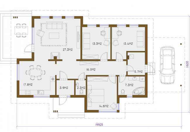 Māju projektu katalogs - Vienas ģimenes mājas - TUKUMS