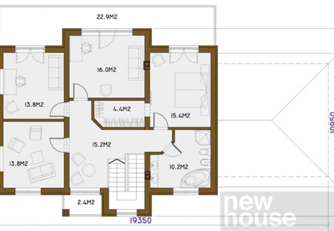 Каталог проектов домов - Дома для одной семьи - HERMES