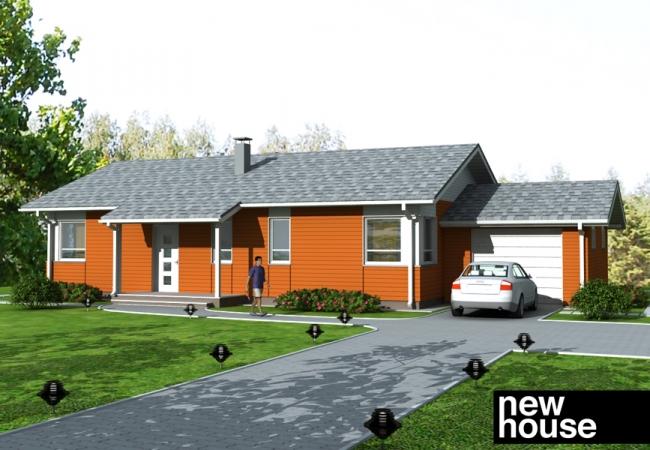 Каталог проектов домов - Дома для одной семьи - EKO3