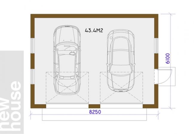 Каталог проектов домов - Гаражи - GARĀŽA ST1