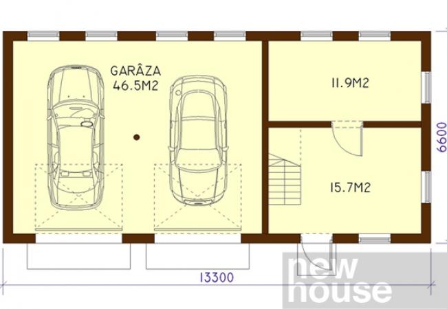 Каталог проектов домов - Гаражи - GARĀŽA 1