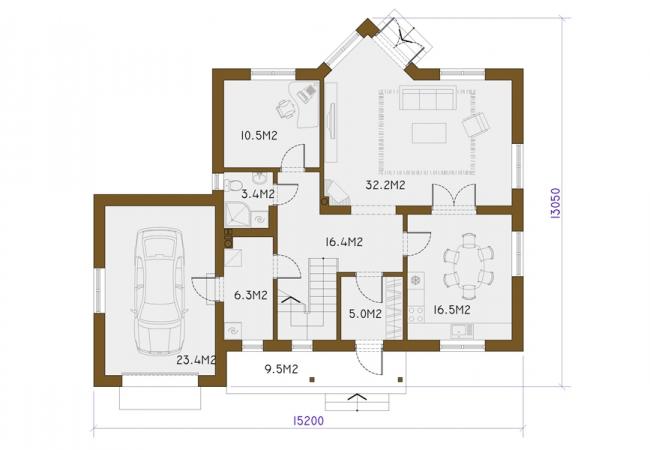 Каталог проектов домов - Дома для одной семьи - ZITA