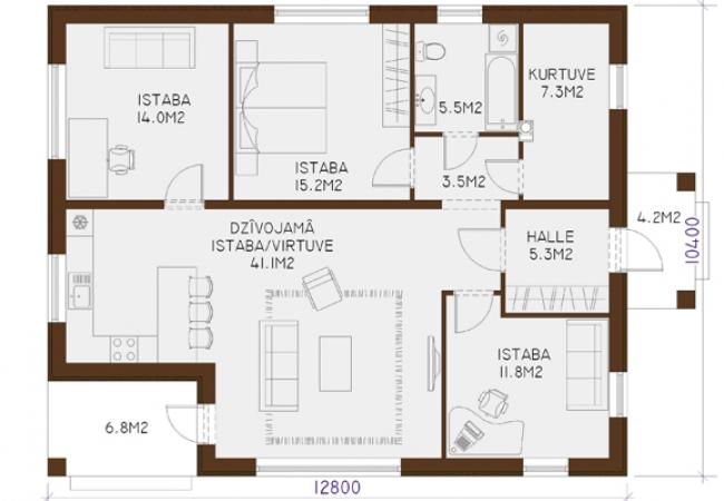 Каталог проектов домов - Дома для одной семьи - INGA