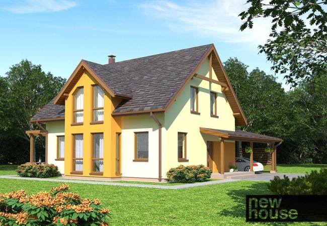 Каталог проектов домов - Дома для одной семьи - KRISTĪNE