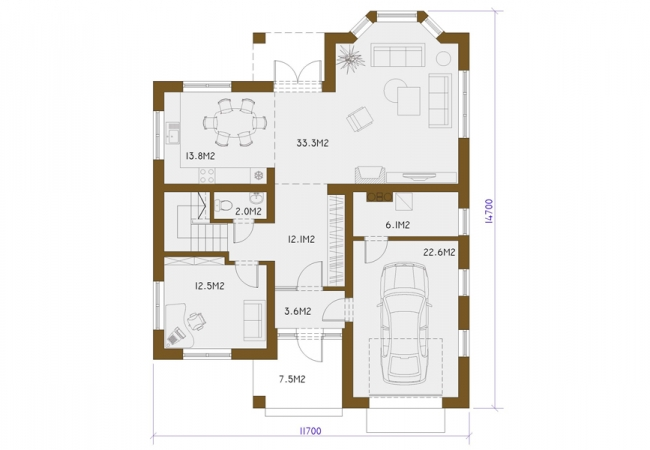 Каталог проектов домов - Дома для одной семьи - SEPTEMBRIS
