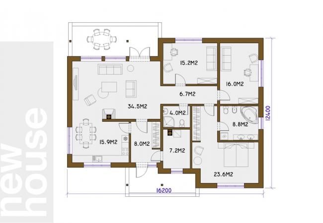 Māju projektu katalogs - Vienas ģimenes mājas - JANA