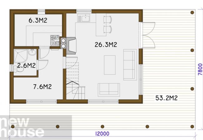 Каталог проектов домов - Бани - MARTA