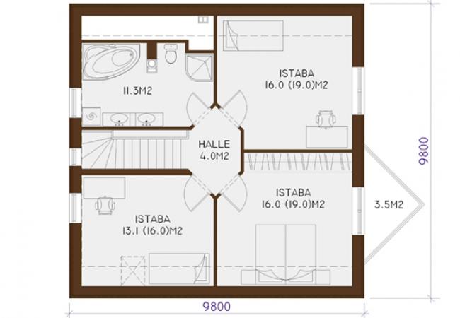 Каталог проектов домов - Дома для одной семьи - LOTE