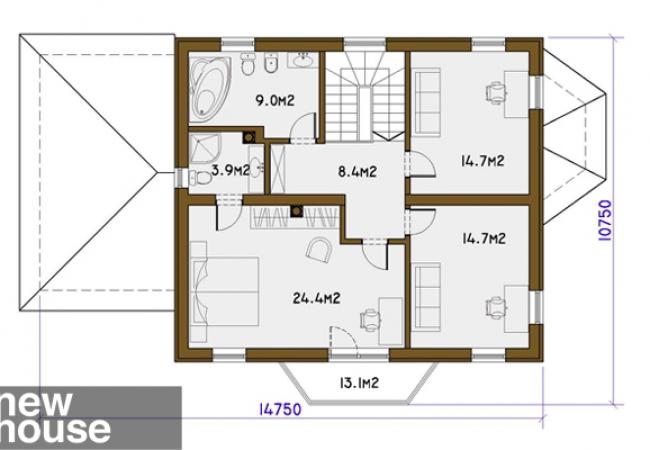 Māju projektu katalogs - Vienas ģimenes mājas - BELLA