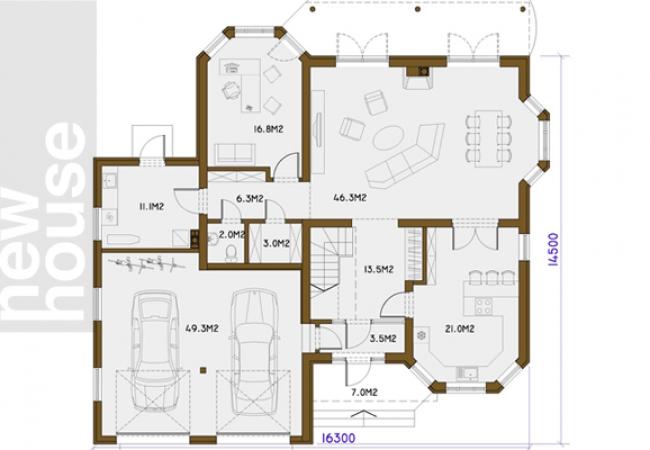 Māju projektu katalogs - Vienas ģimenes mājas - AMIGO
