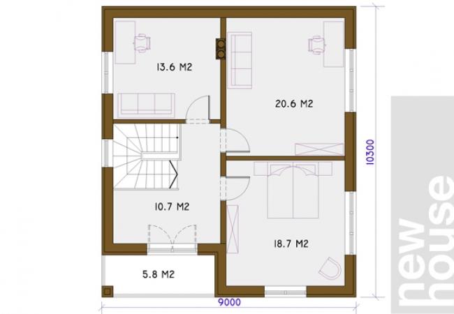 Каталог проектов домов - Дома для одной семьи - LILITA