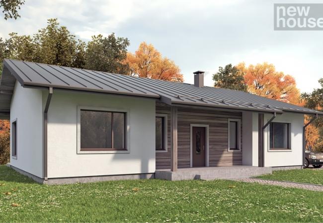 Māju projektu katalogs - Vienas ģimenes mājas - Māja LM6
