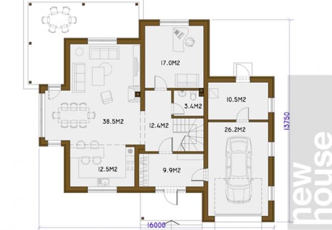 Каталог проектов домов - Дома для одной семьи - ILVA
