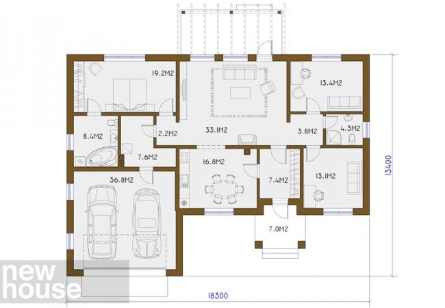 Каталог проектов домов - Дома для одной семьи - MONTA