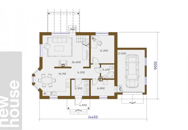 Каталог проектов домов - Дома для одной семьи - INGŪNA 2