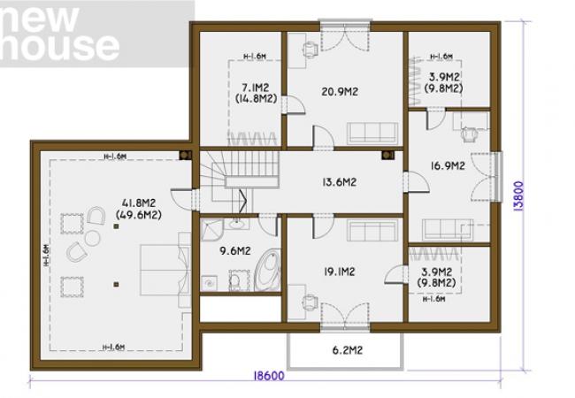 Каталог проектов домов - Дома для одной семьи - BRIGITA