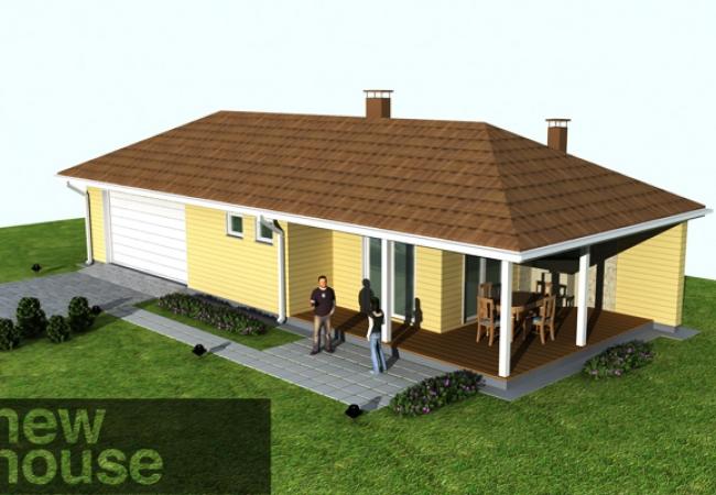 Каталог проектов домов - Гараж с баней - UNO 1