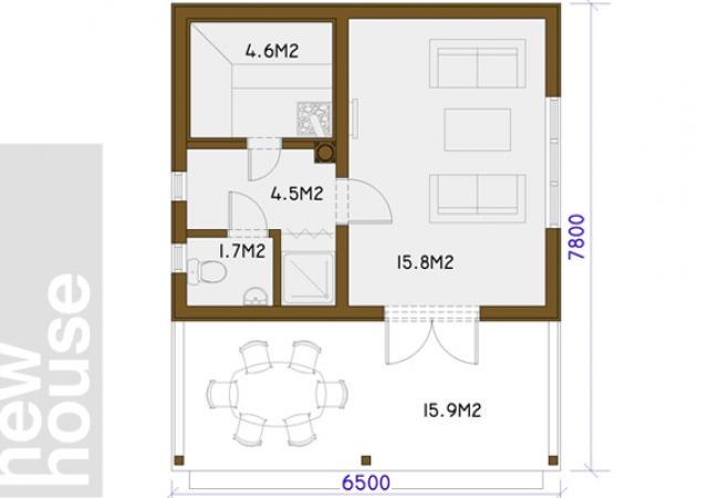 Māju projektu katalogs - Pirts projekti - LEILA