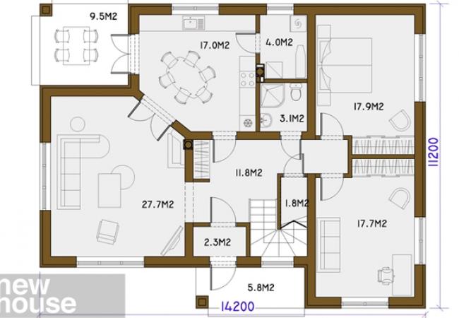 Каталог проектов домов - Дома для одной семьи - RENĀTE