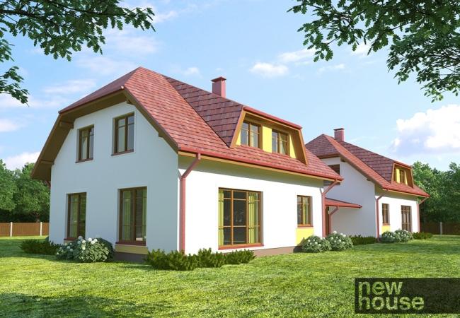 Māju projektu katalogs - Dvīņu mājas - GULBENE DVĪŅU MĀJA