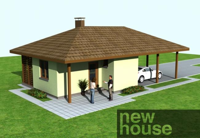 Каталог проектов домов - Гараж с баней - STELLA