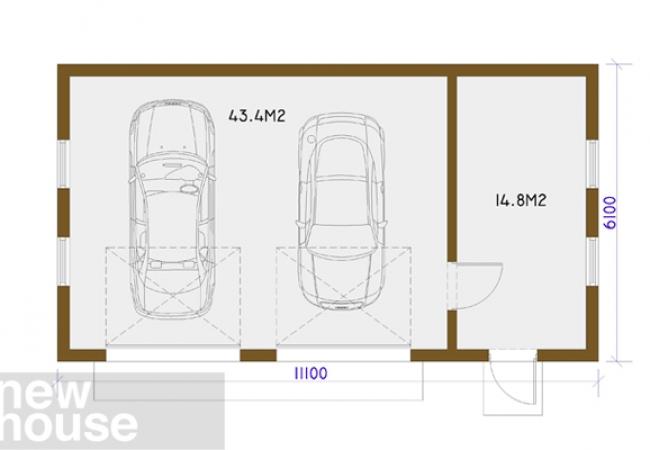 Каталог проектов домов - Гаражи - GARĀŽA ST3