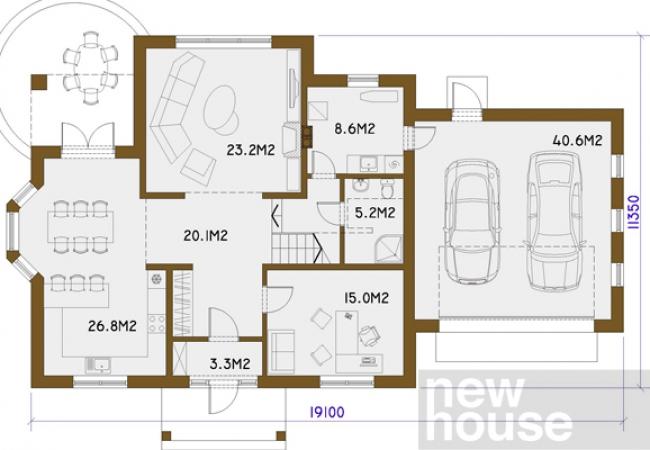 Māju projektu katalogs - Vienas ģimenes mājas - DOBELE
