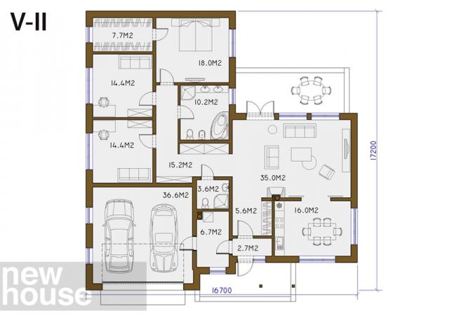 Каталог проектов домов - Дома для одной семьи - IECAVA