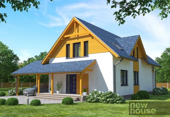 Каталог проектов домов - Дома для одной семьи - ANNA