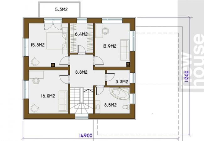 Каталог проектов домов - Дома для одной семьи - OKSANA