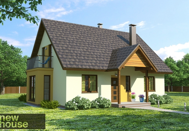 Каталог проектов домов - Дома для одной семьи - RAMONA