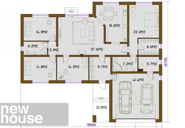 Каталог проектов домов - Дома для одной семьи - KANDAVA