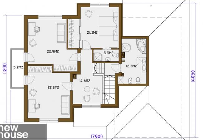 Каталог проектов домов - Дома для одной семьи - HELGA