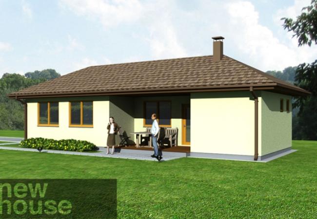 Каталог проектов домов - Гараж с баней - GUNA 2