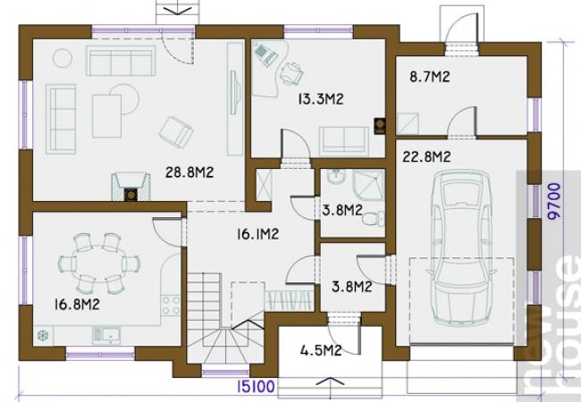 Māju projektu katalogs - Vienas ģimenes mājas - SIMENS