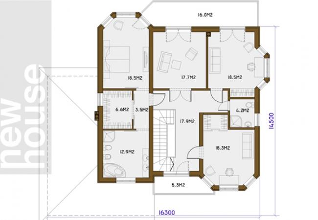 Каталог проектов домов - Дома для одной семьи - AMIGO