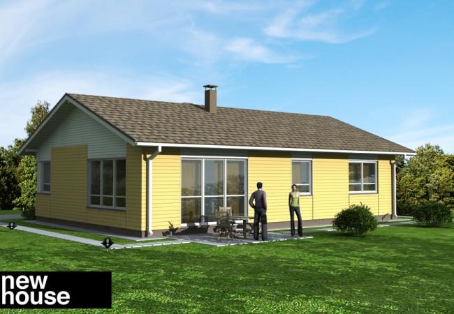 Каталог проектов домов - Дома для одной семьи - EKO2
