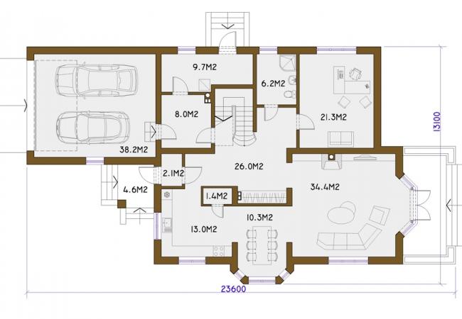 Каталог проектов домов - Дома для одной семьи - JŪRMALA