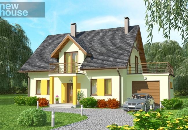 Каталог проектов домов - Дома для одной семьи - VERONIKA